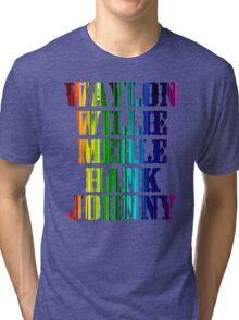 cute Waylon Jennings Willie Nelson Merle Haggard Hank Williams Johnny Cash  Tri-blend T-Shirt
