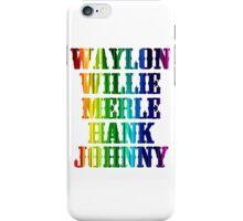 cute Waylon Jennings Willie Nelson Merle Haggard Hank Williams Johnny Cash  iPhone Case/Skin