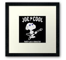 Snoopy Joe Cool Rock Framed Print