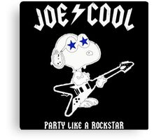 Snoopy Joe Cool Rock Canvas Print