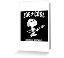 Snoopy Joe Cool Rock Greeting Card