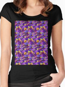 Pansies Galore  Women's Fitted Scoop T-Shirt