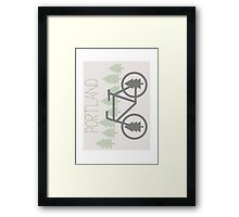 Portland - PDX - City of Trees and Bicycles Framed Print