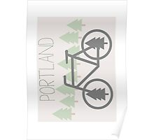Portland - PDX - City of Trees and Bicycles Poster
