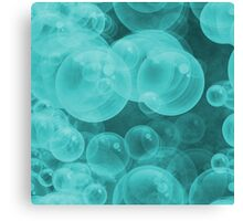 Large Tiffany Aqua Blue & White and White Water Air Bubbles Canvas Print