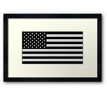 USA Dark Flag Framed Print