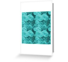 Small Tiffany Aqua Blue and White Water Air Bubbles Greeting Card