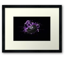 Kings puck Framed Print