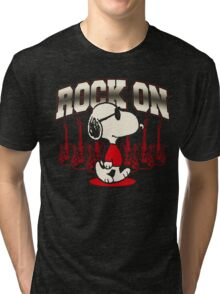 Snoopy Rock Tri-blend T-Shirt
