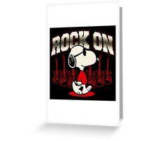 Snoopy Rock Greeting Card