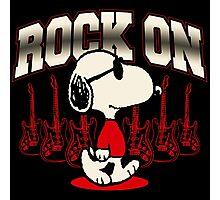 Snoopy Rock Photographic Print
