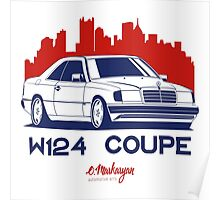 Mercedes Benz W124 Coupe Poster