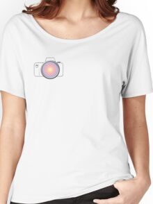 DSLR Camera 1 SideLOGO Women's Relaxed Fit T-Shirt