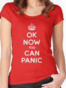 Brexit Panic Keep Calm Parody Women's Fitted Scoop T-Shirt