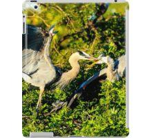 Great Blue Herons Battle iPad Case/Skin