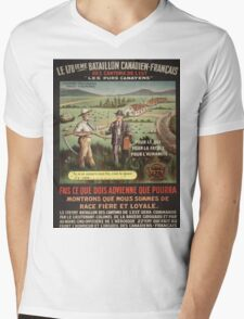 Vintage poster - WWI Canadian Recruiting Mens V-Neck T-Shirt