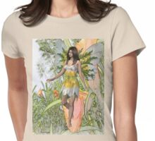 Lily the flower fae Womens Fitted T-Shirt