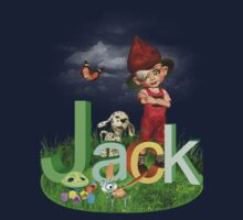 Jack Green - Kids Art with Custom Name Kids Tee