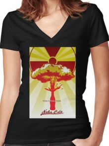 nuka Women's Fitted V-Neck T-Shirt