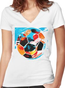 Life Ball Women's Fitted V-Neck T-Shirt
