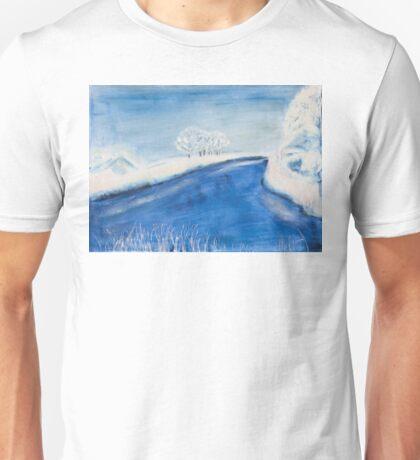 Landscape in winter Unisex T-Shirt