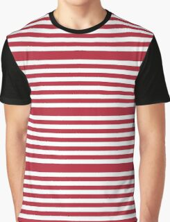 Red Stripes Pattern Graphic T-Shirt