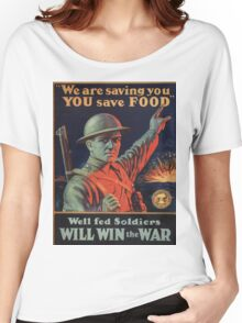 Vintage poster - Food Rationing Women's Relaxed Fit T-Shirt