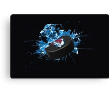 Avalanche Puck Canvas Print