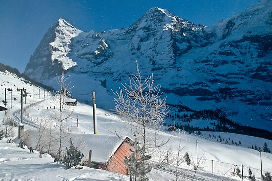 Eiger Winter Scene by Alec Owen-Evans