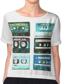 OLD CASSETTE TAPES Chiffon Top