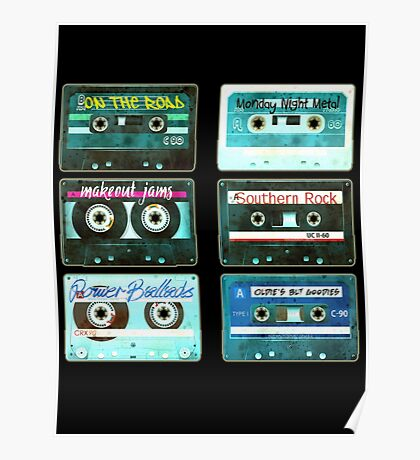 OLD CASSETTE TAPES Poster