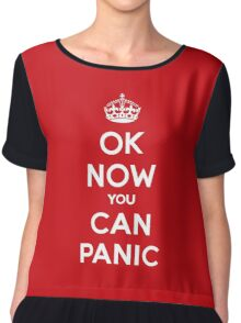 Brexit Panic Keep Calm Parody Chiffon Top