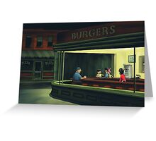 Bobs Burgers Nighthawks Greeting Card