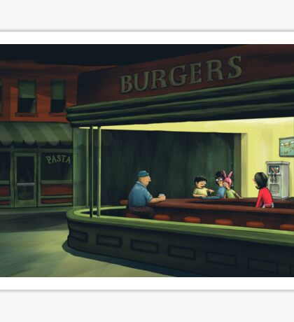 Bobs Burgers Nighthawks Sticker