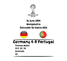 Germany - Portugal 16 June 2014 by refreshdesign