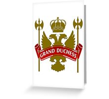 The Grand Duchess Coat-of-Arms Greeting Card