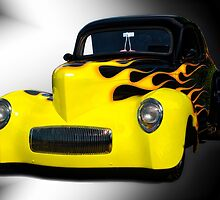 1941 Willys Coupe in Flames by DaveKoontz