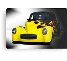 1941 Willys Coupe in Flames Metal Print