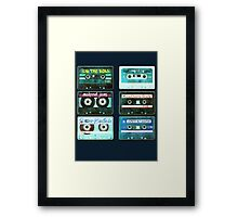 OLD CASSETTE MIX TAPES Framed Print