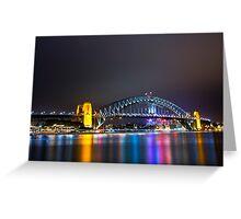 Sydney Harbour Bridge, Sydney, NSW, Australa - Night Time Lights Greeting Card