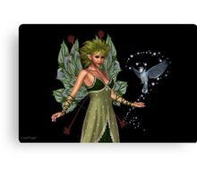The Fae and a little bird Canvas Print