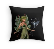 The Fae and a little bird Throw Pillow