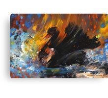 The Black Swan Canvas Print