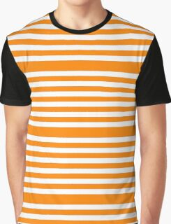 Orange Stripes Pattern Graphic T-Shirt