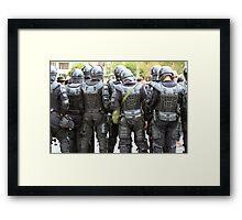 Riot Police in Cotacachi Framed Print