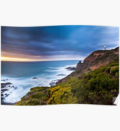 Cape Schanck Sunset on the Mornington Peninsula Victoria, Australia Poster