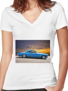 1953 Studebaker 'Blue Streak' Commander Women's Fitted V-Neck T-Shirt