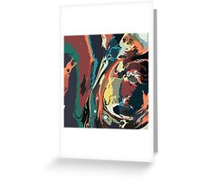 Ink marble texture Greeting Card