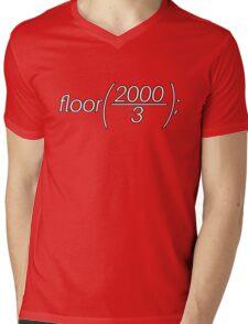 floor(2000/3); Mens V-Neck T-Shirt