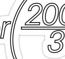 floor(2000/3); Sticker